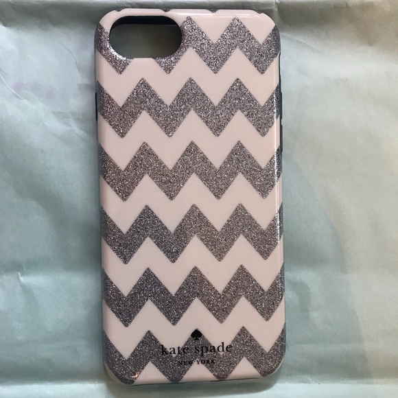 kate spade Accessories - Kate Spade Chevron Sparkle IPhone 7 Case